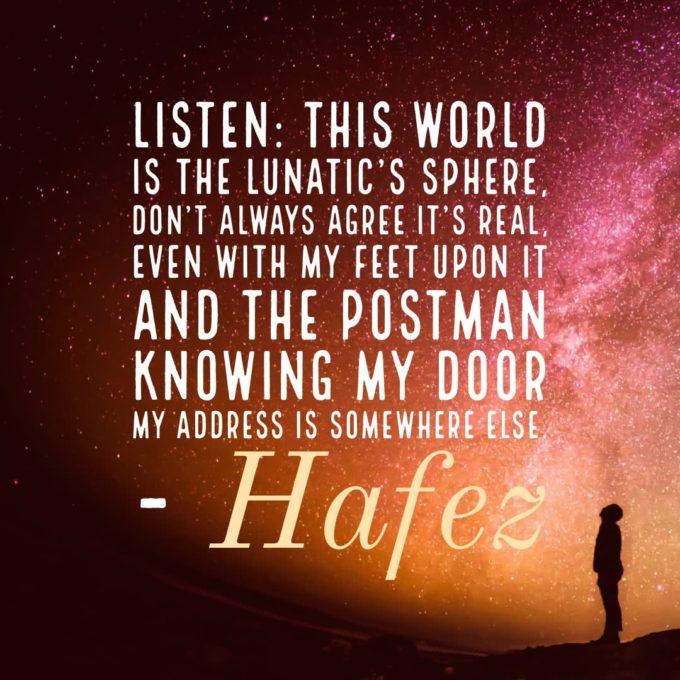 Hafez Lunatic Quote
